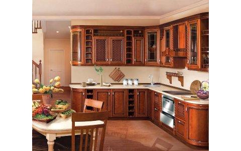 Кухня ЗОВ из массива Черешни 10 ТИП 12