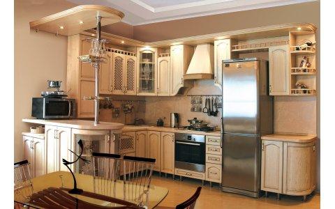 Кухня ЗОВ из массив Дуба 7 тип 01