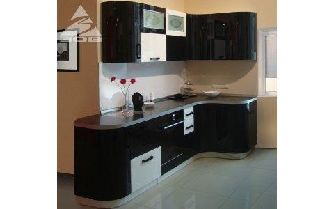 Кухня ЗОВ Акрил-5 Черный/Белый