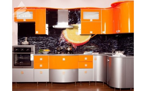 Белорусская кухня ЗОВ из крашенного МДФ система Ral 2008/М2