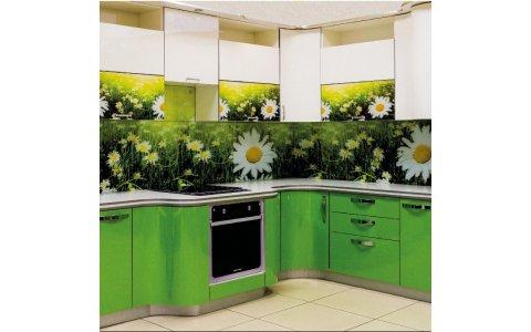 Кухня ЗОВ Белый Лотос/Зеленый