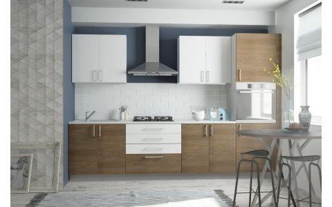 Кухня Оптима из ламинированного ДСП Акация/Сантана