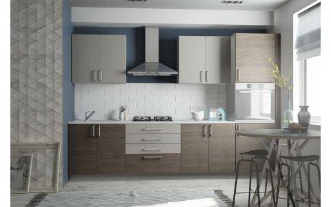 Кухня Оптима  из ламинированного ДСП Платина/Лиственница