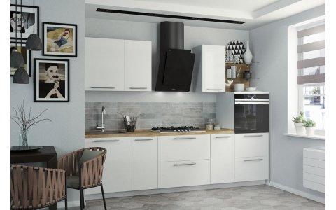 Кухня Оптима ДСП/Пластик Снежный