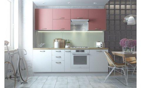 Кухня Оптима из крашеного МДФ Система RAL3014 матовый/RAL9003 матовый