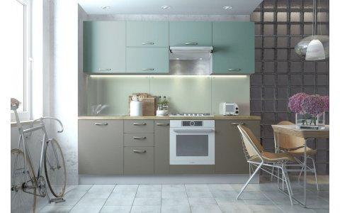 Кухня Оптима из крашеного МДФ Система ZOV246 матовый/RAL7030 матовый