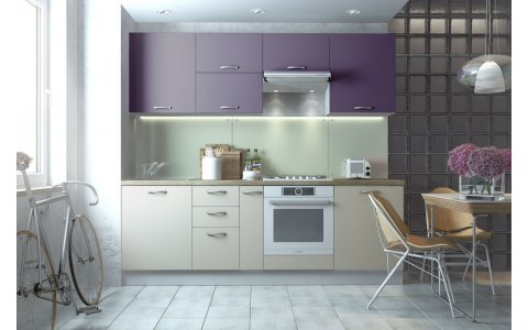 Кухня Оптима из крашеного МДФ Система ZOV233 матовый/ZOV226 матовый