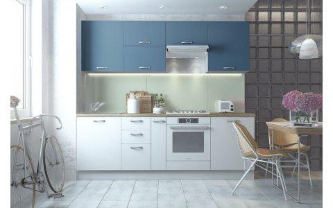 Кухня Оптима из крашеного МДФ Система RAL5007 матовый/RAL9003 матовый
