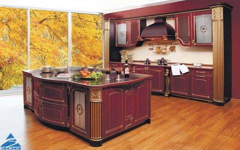 Кухня ЗОВ из массива Ясеня Т512/116