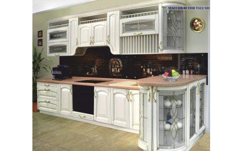 Кухня ЗОВ из массив Ясеня Т512/101