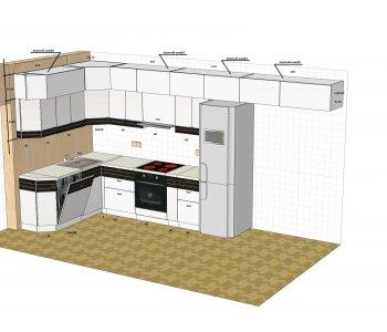 Кухня НЕО Модерн-шпон глянец металлик БАЛ204