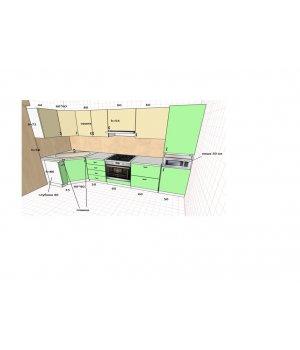 Кухня NEO фасад пластик БАЛ303