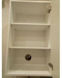 Отверстие в задней стенке шкафа для газового крана