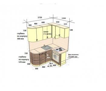 Кухня НЕО фасады из пластика Arpa 0661 / 4494