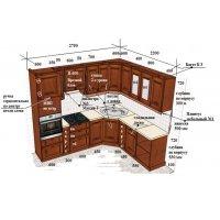 Кухня ЗОВ массив черешни ШТА470