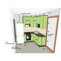 Кухня NEO фасад пластик глянцевый