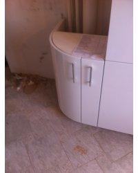 перенос задней стенки шкафа из-за коммуникаций