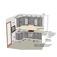 Кухня из рамочного МДФ Марсель-4 Люберон
