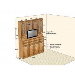 Дизайн-проект буфета с раскладной кроватью