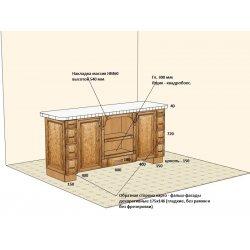 Дизайн-проект острова лицевая сторона