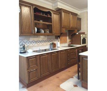Кухня ЗОВ из Массива Дуба со встроенной кроватью