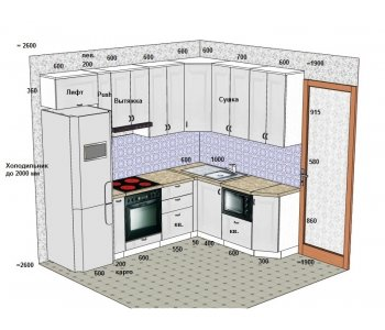 Кухня ЗОВ Марсель-3 ПП Мрамор