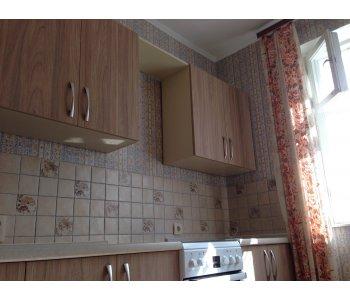 Кухня с фасадами из древоподобного пластика