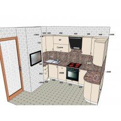 Дизайн-проект кухни (противоположная часть)