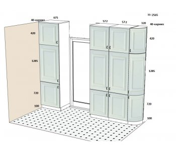 Шкаф с фасадами Лацио БАЛ737