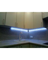 Светодиодная подсветка в угловом алюминиевом профиле