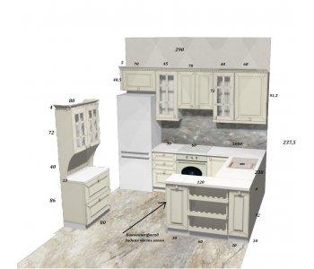 """Кухня из массива ясеня """"Фортвуд"""""""