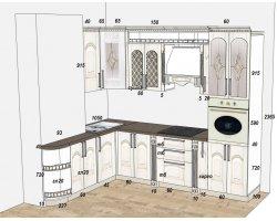 Дизайн проект кухни из массива ясеня