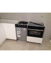 посудомоечная машина 45 см, духовой шкаф со встроенной микроволновкой