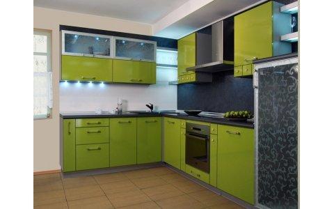 Кухня ЗОВ Зеленый Глянец